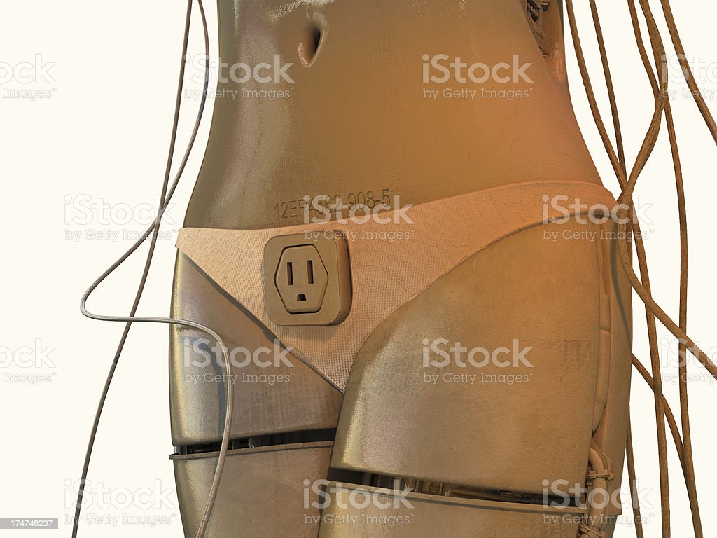 Sexy cyborg stock photo