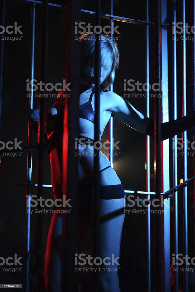 sexy dancing woman royalty-free stock photo