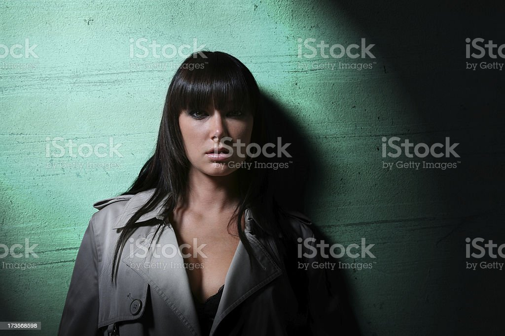 Sexy Detective royalty-free stock photo