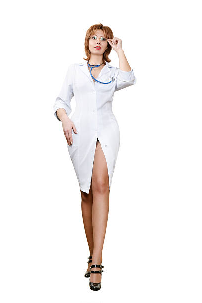 sexy doctor - female nurse stock photos and pictures