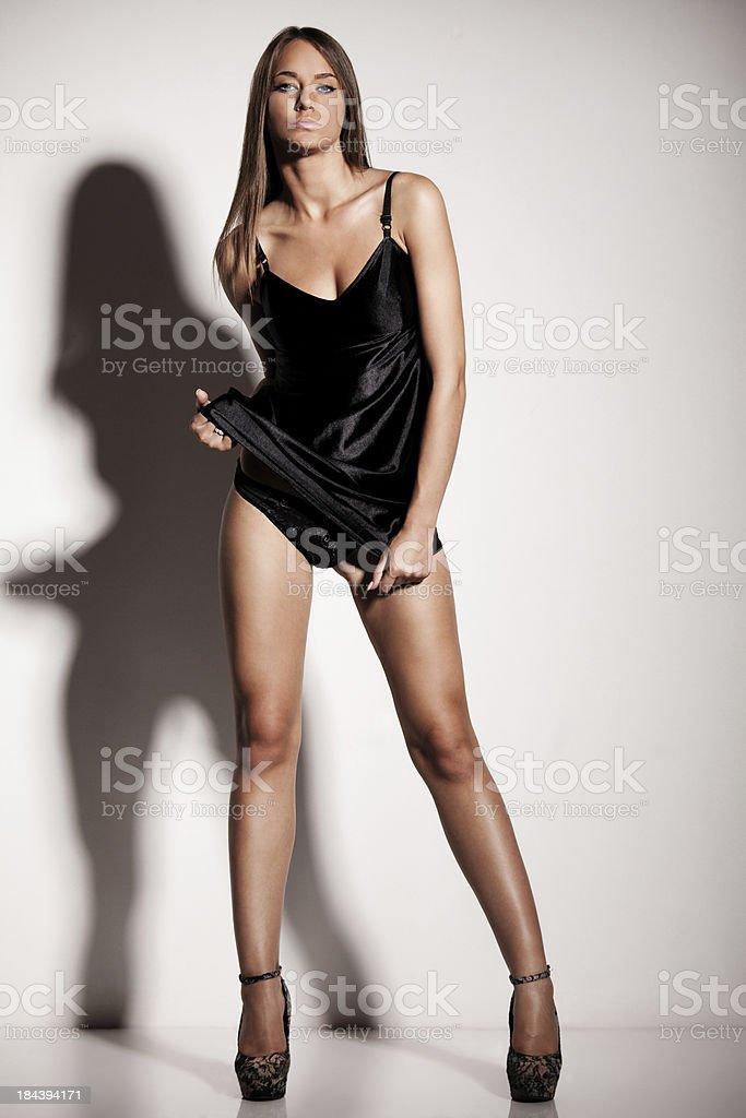 Sexy fashion model posing royalty-free stock photo
