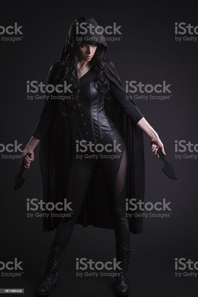 Sexy Female Assassin stock photo