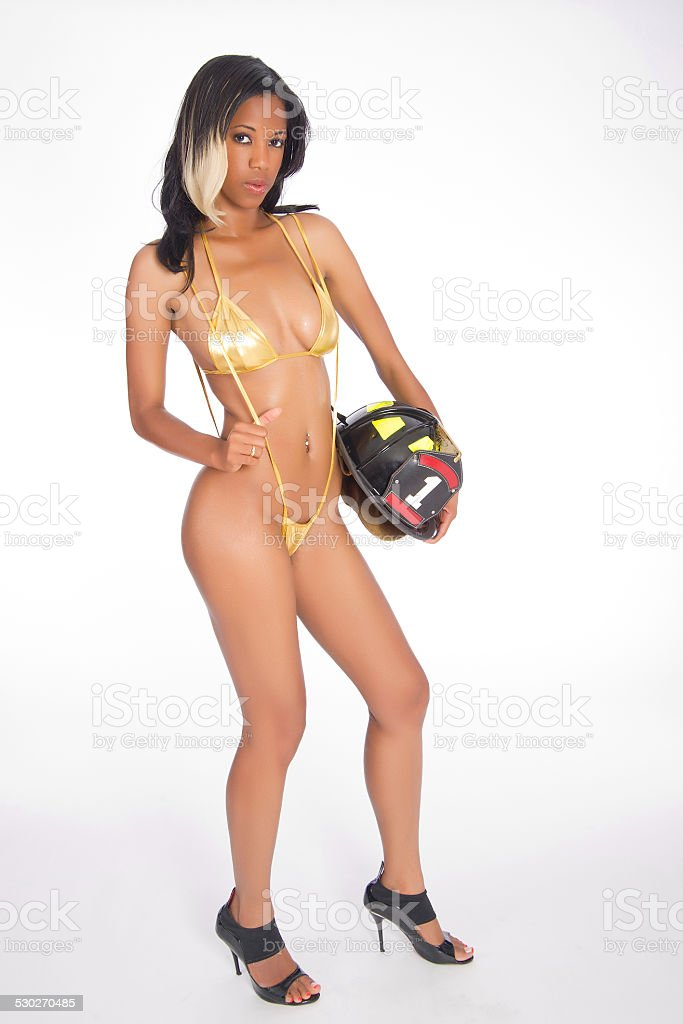 Sexy Female Firefighter stock photo