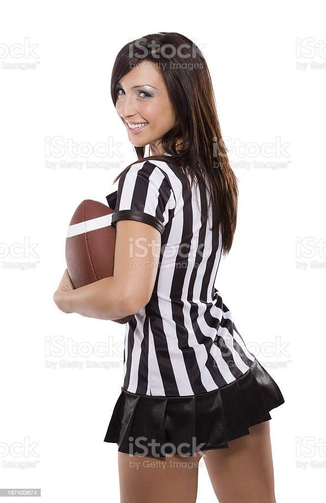 Sexy Female Football Fan royalty-free stock photo