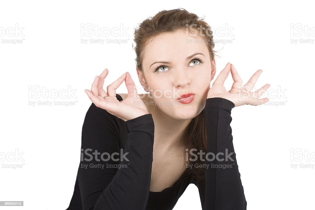 Sexy female gesturing against royalty-free stock photo