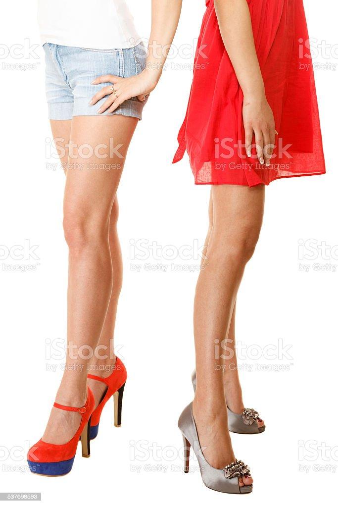 4f6a9ea8826b sexy gambe femminile con tacchi alti isolato. Parte del corpo. foto stock  royalty-