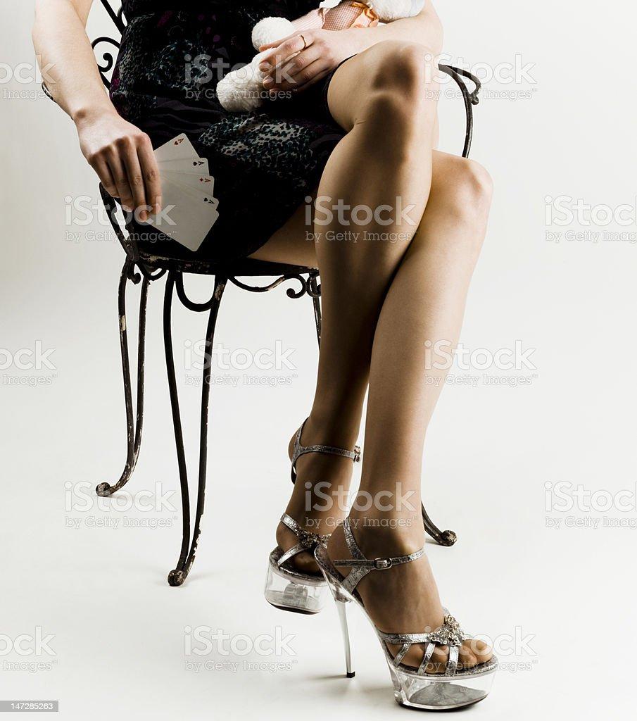 sexy female legs royalty-free stock photo