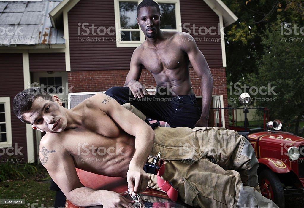 Sexy Firemen royalty-free stock photo