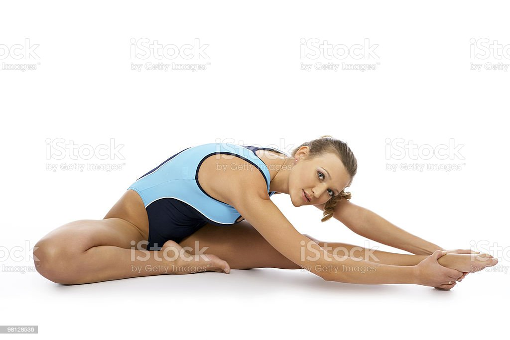 sexy fitness instructor royalty-free stock photo