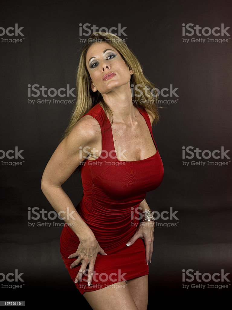 Sexy forties stock photo