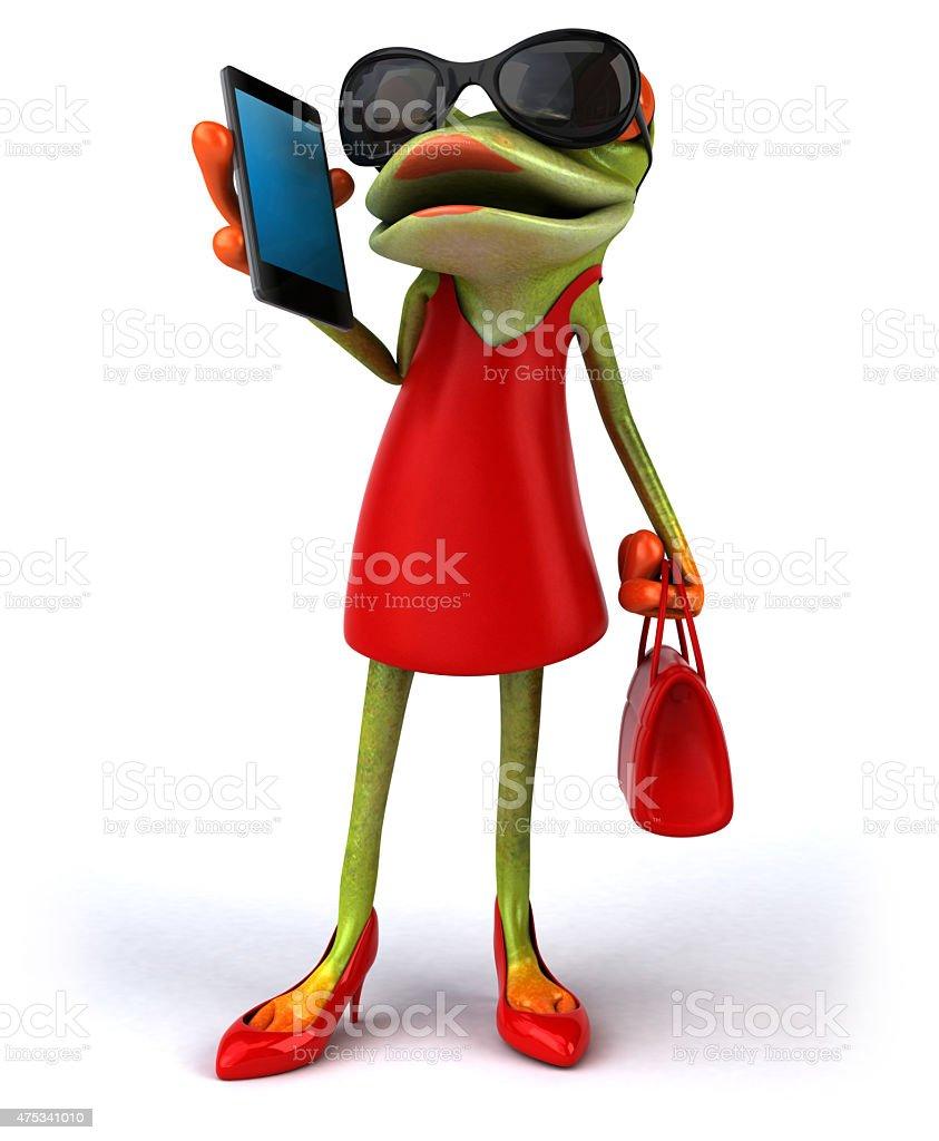 Sexy frog stock photo