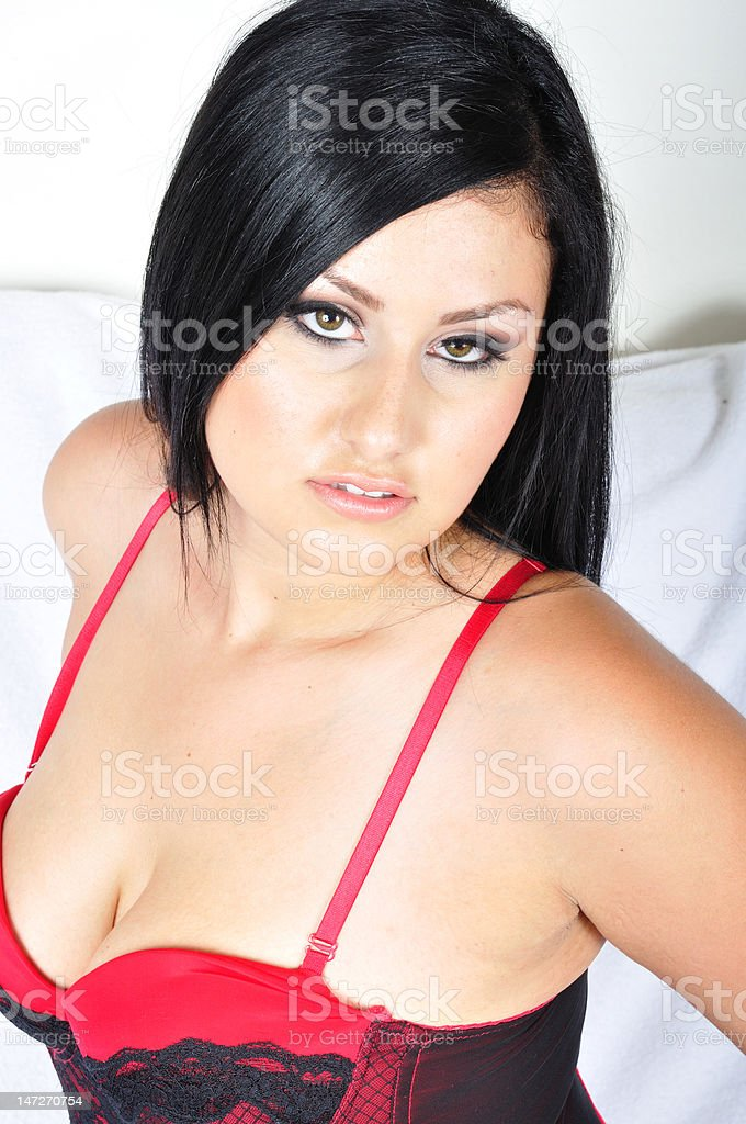 Sexy Full Figure Lingerie Model royalty-free stock photo