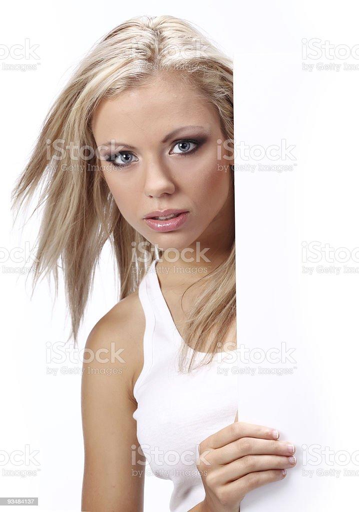 색시한 여자아이 쥠 a 게시판 날씨정보추가 격리됨에 over 인명별 - 로열티 프리 간판 스톡 사진