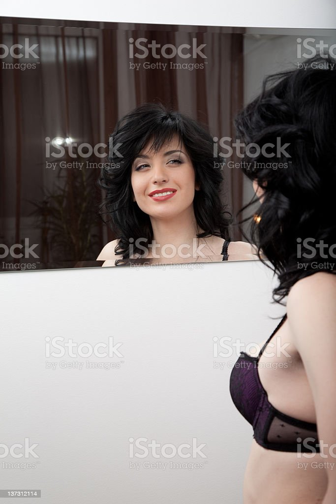 Sexy girl in beautiful lingerie royalty-free stock photo