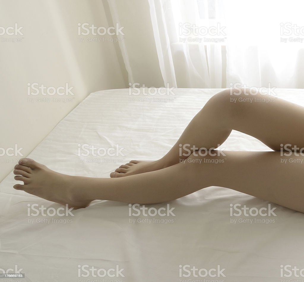 Sexy Girl In bedroom royalty-free stock photo