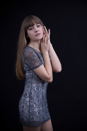 Sexy Girl In Lace Dress Stock Photo - Download Image Now