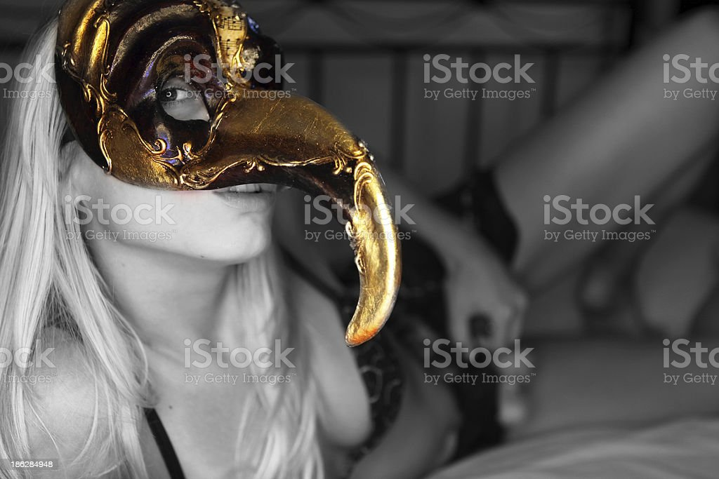 d55cfd58e6566 Sexy Girl In Lingerie With Mask Stock Photo & More Pictures of Adult ...