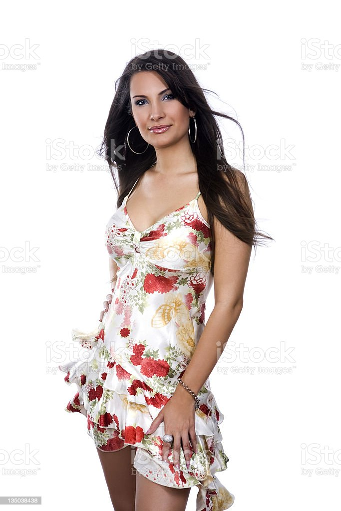 sexy girl in stylish dress stock photo