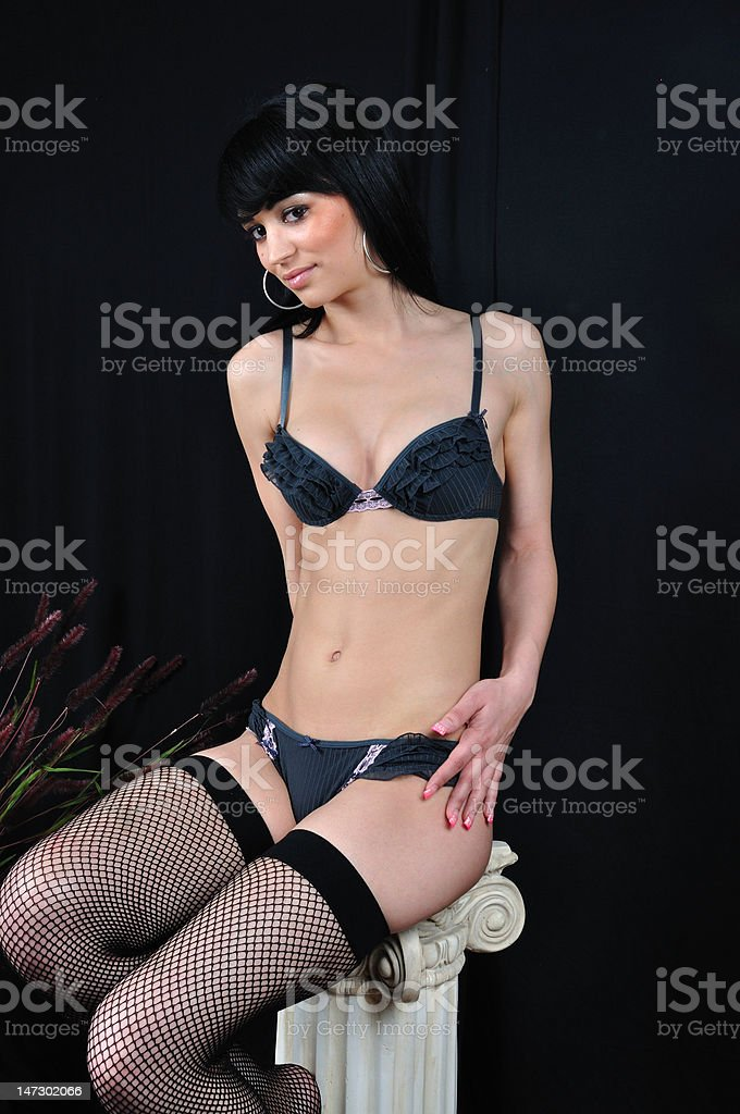 Sexy Girl on Pedestal royalty-free stock photo