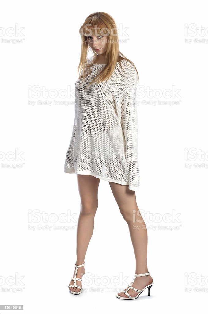 sexy girl on white royalty-free stock photo