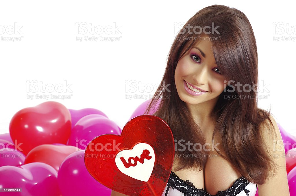 sexy girl posing with candy lollipop royalty-free stock photo