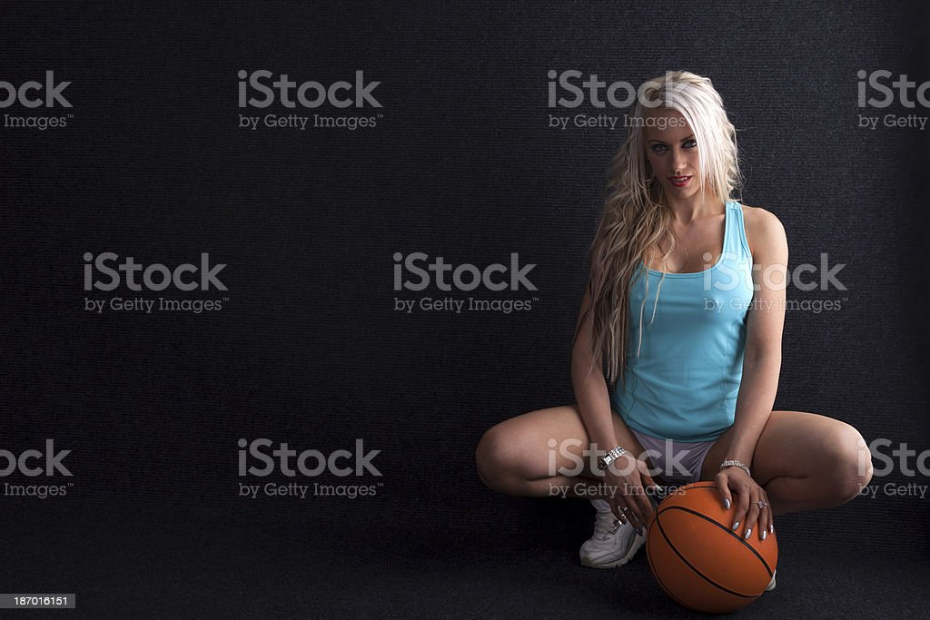 Sexy Girl Ready For Basketball stock photo