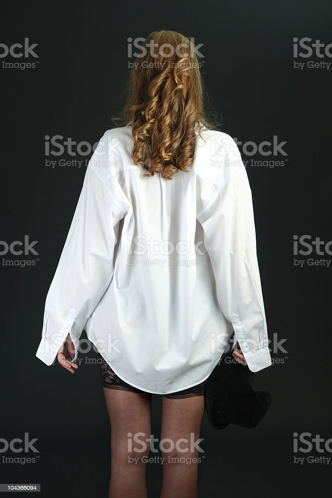Сексуальная белая блузка девушки — pic 12