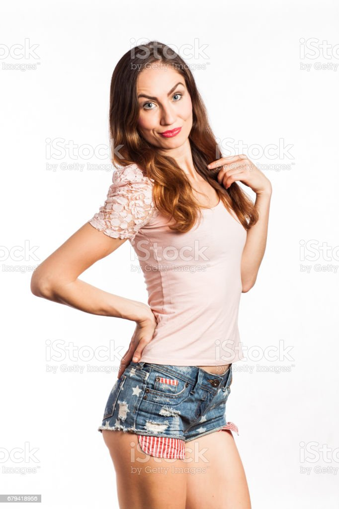 Sexy girl with a funny face royalty-free stock photo