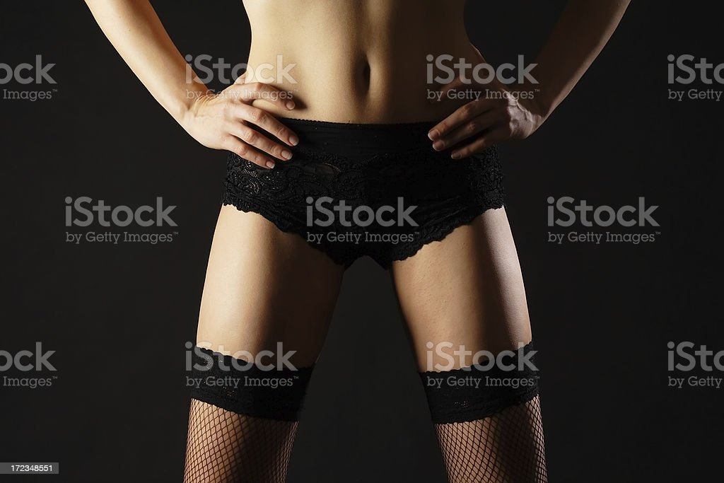 sexy girl with underwear royalty-free stock photo