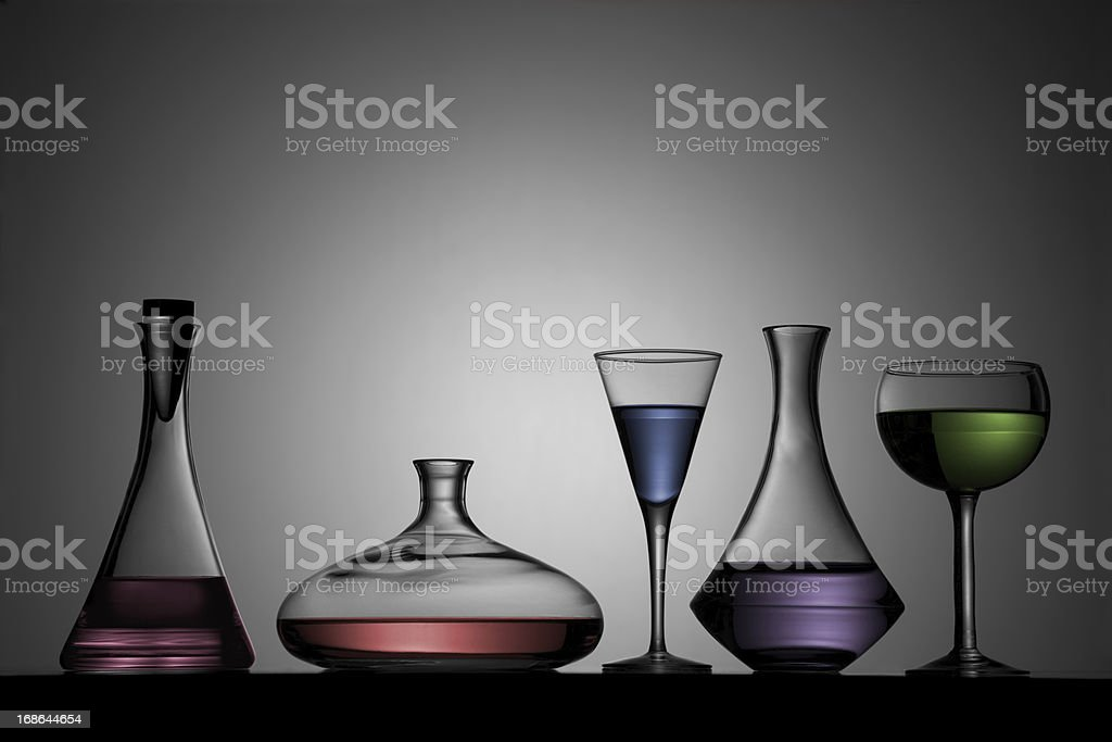 Sexy Glass Bottles royalty-free stock photo