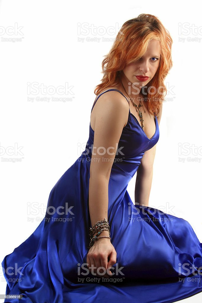 sexy gown royalty-free stock photo