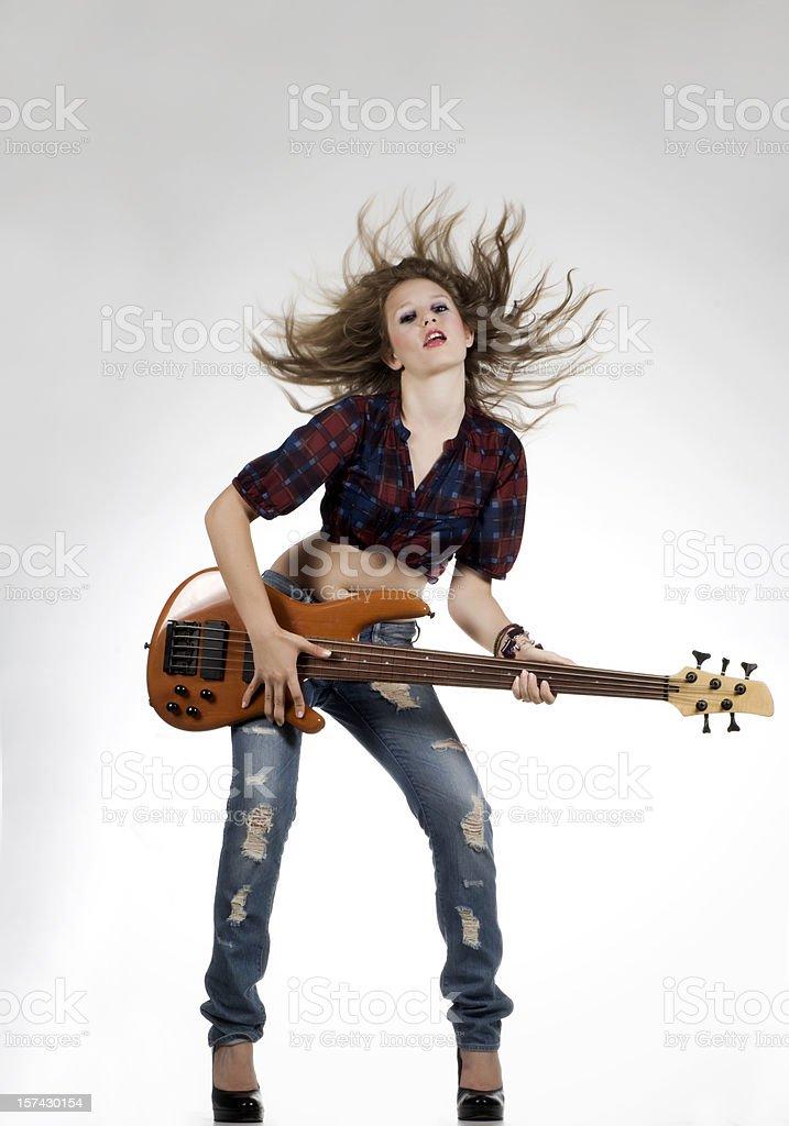 Sexy Guitarist stock photo