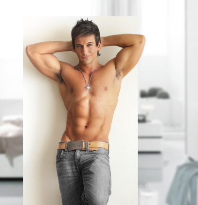 Handsome Muscular Men Stock Photo - Download Image Now