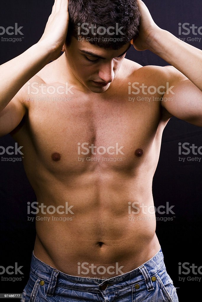 Sexy handsome muscular young man royalty-free stock photo