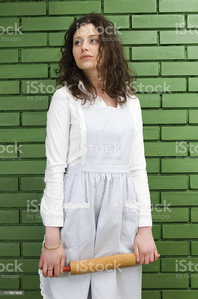 Sexy Housemaid stock photo