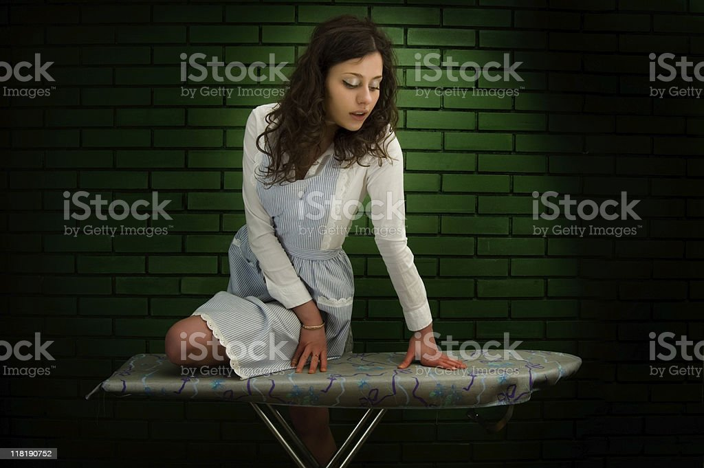 XXL Sexy Housemaid stock photo