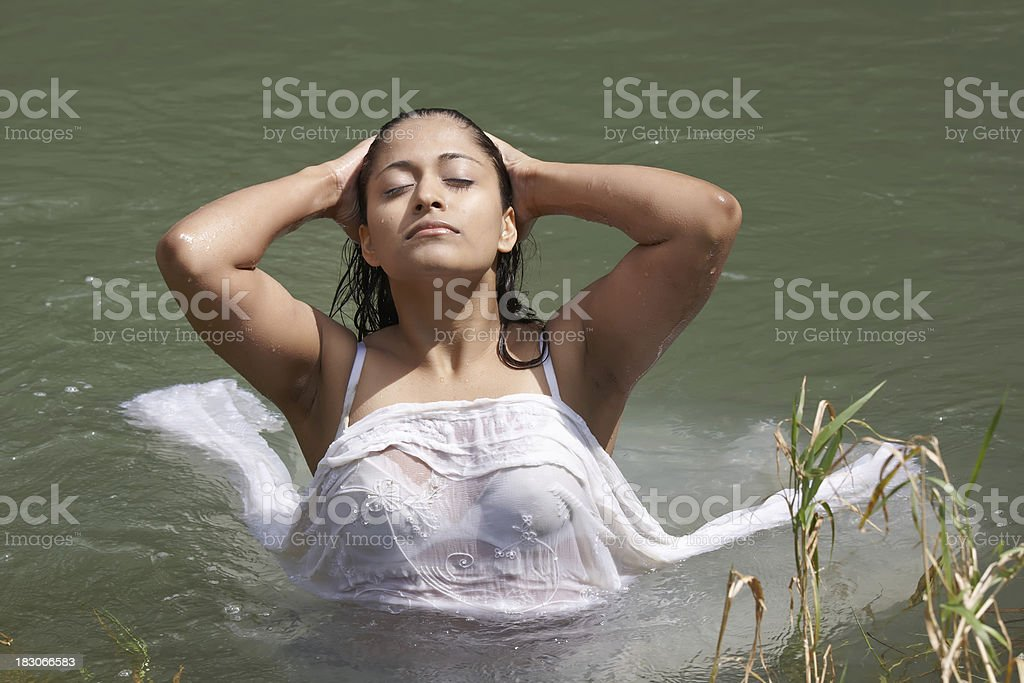 Sexy Indian Woman In The Water Stock Photo - Download Image Now - Istock-9262