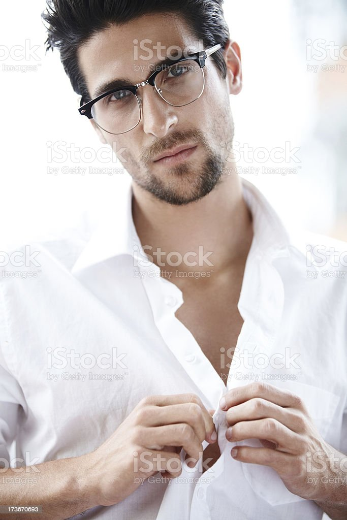 Sexy intellectual royalty-free stock photo
