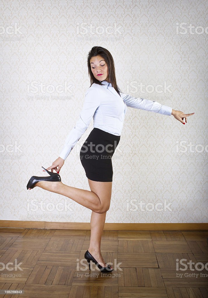 Sexy italian woman with high heels - Stock image .