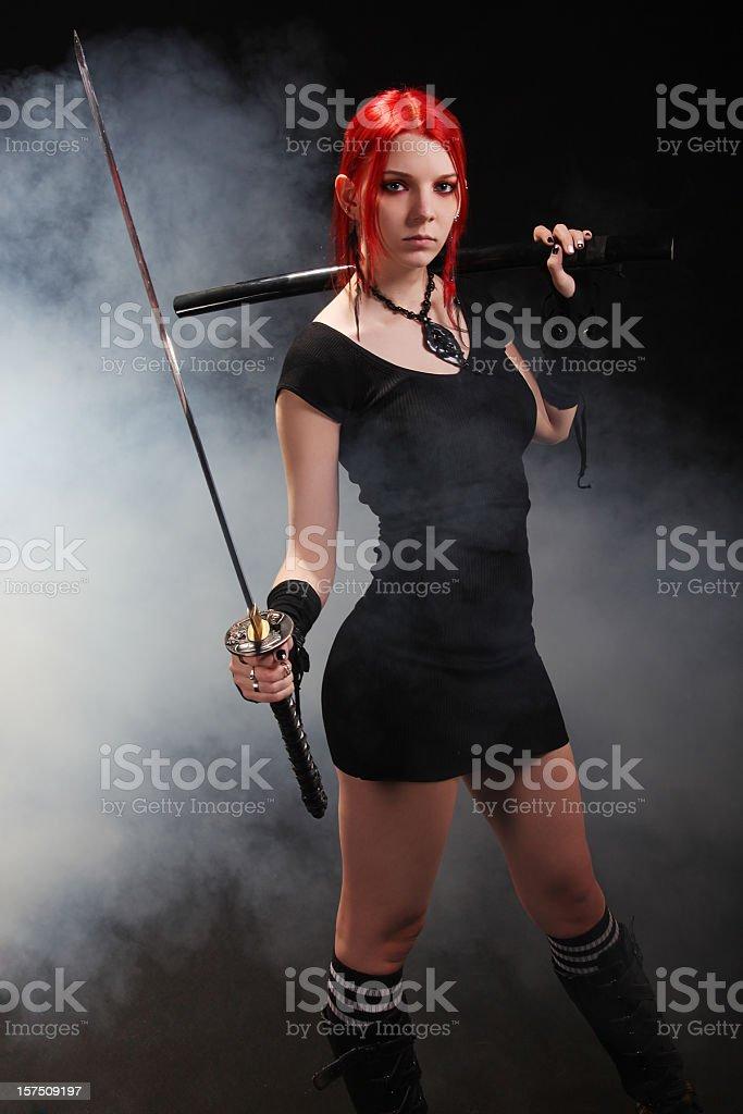 Sexy killer royalty-free stock photo