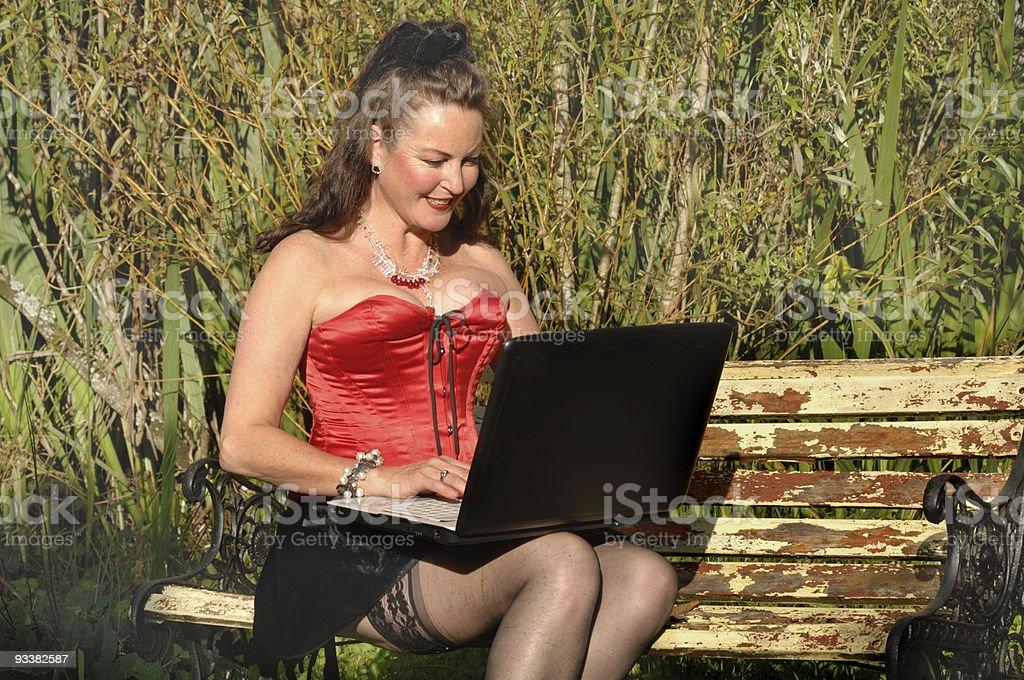 Sexy Laptop royalty-free stock photo