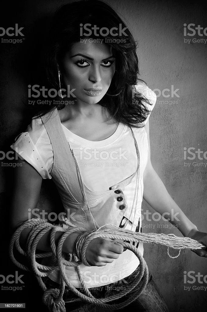 Sexy Latina royalty-free stock photo
