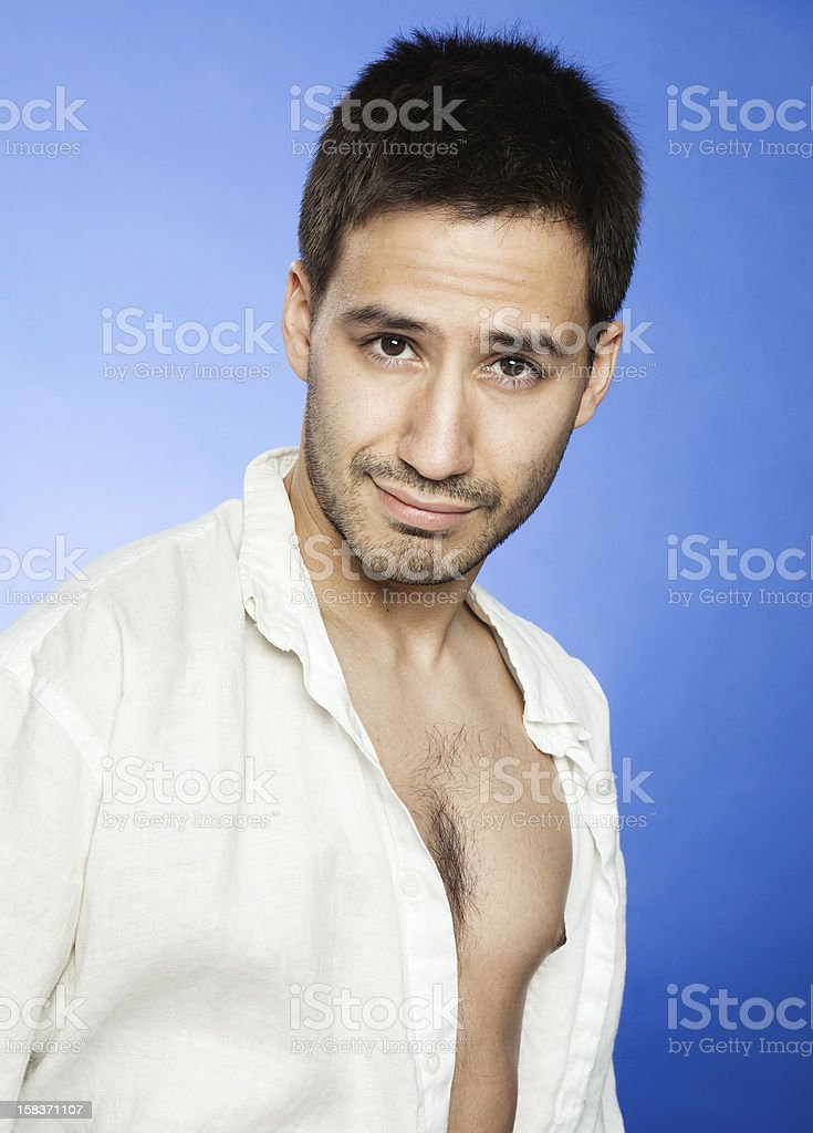 Sexy Latino Man With A Kind Seductive Look Royalty Free Stock Photo