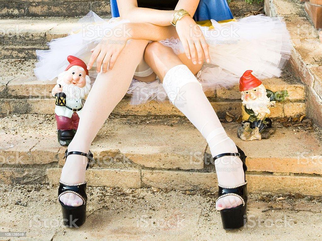 sexy jambes et le dwarfs - Photo