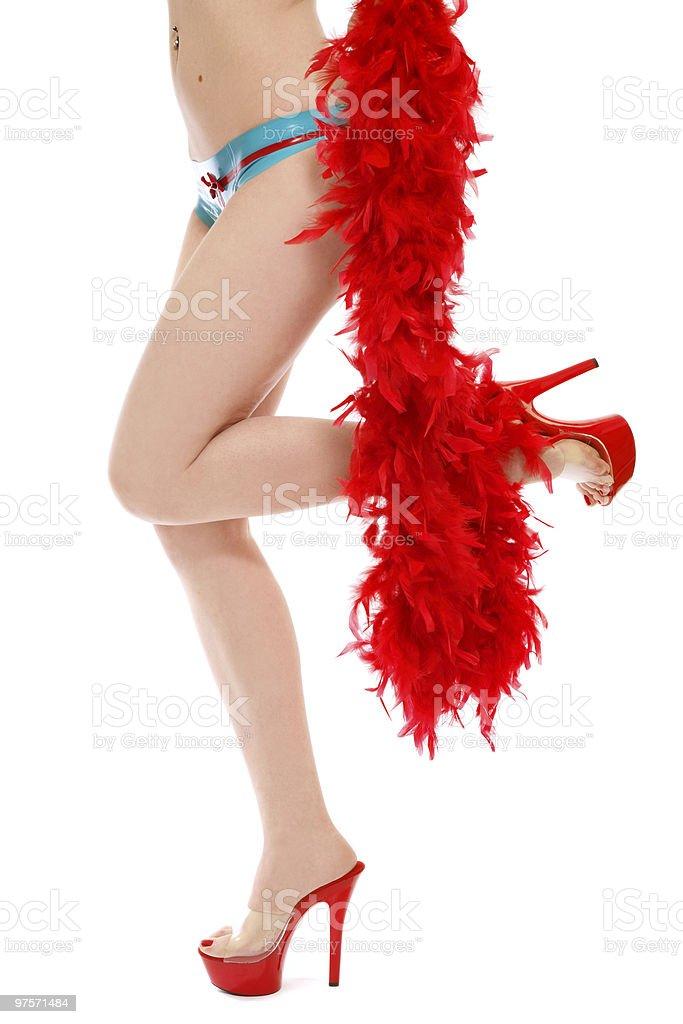 Sexy legs in red stilettos royalty-free stock photo