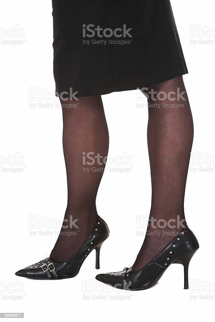 Sexy legs of a businesswoman royaltyfri bildbanksbilder