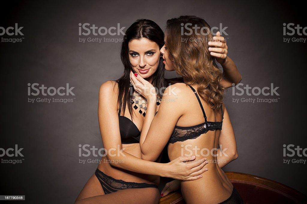 Sexy lingerie lesbian