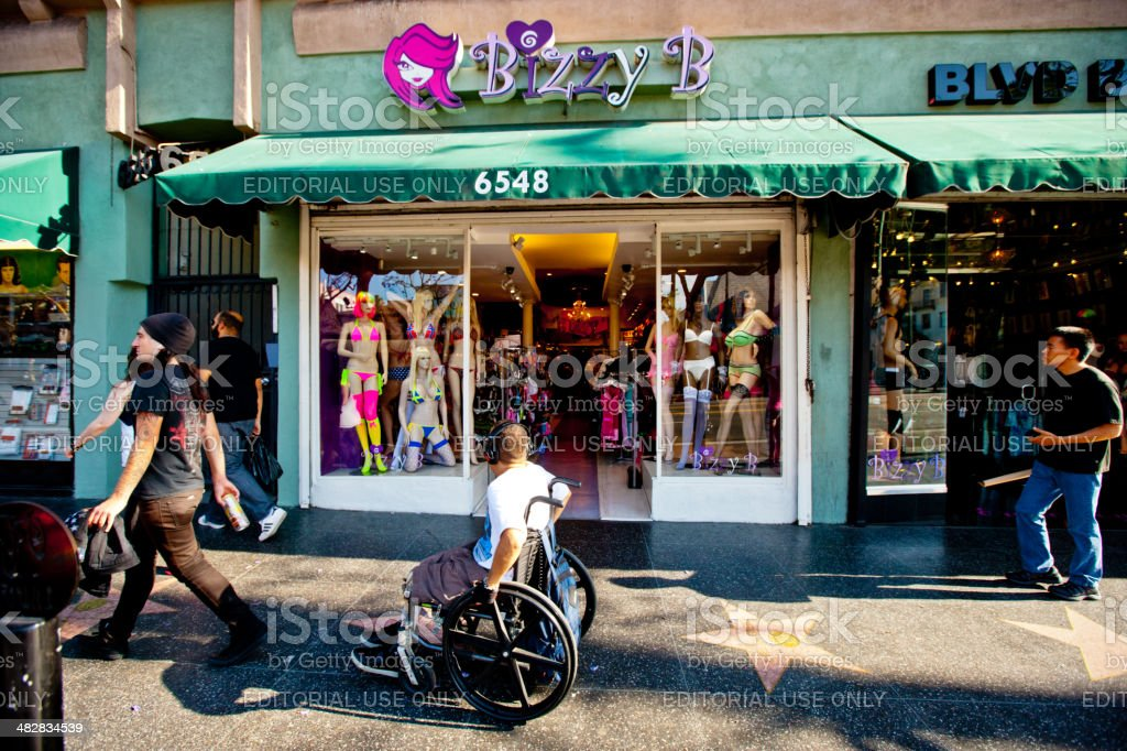 Sexy Lingerie Shop Bizzy B On Hollywood Boulevard Stock -1999