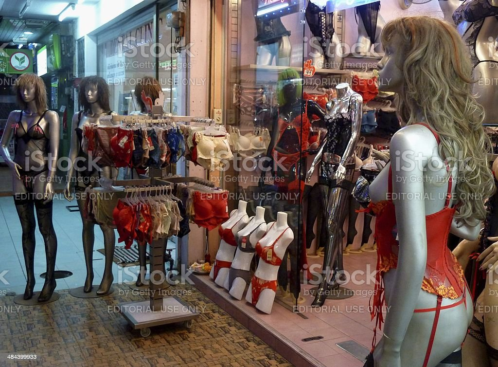 Sexy Lingerie Shop In Pattaya Thailand Stock Photo -7139