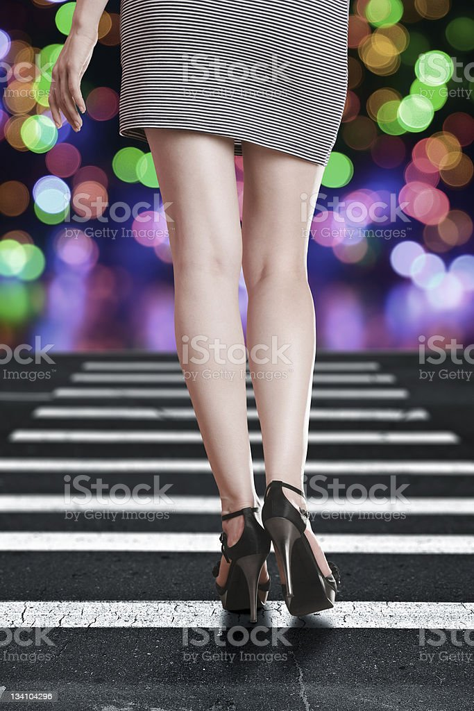 Sexy long legs royalty-free stock photo